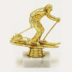 Arany figura - Síelő - F118