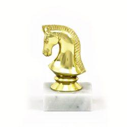 Arany figura - Sakk (lófej) - F479
