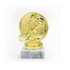 Kerékpározó arany figura - FP030
