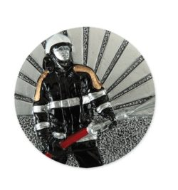 Tűzoltós műgyanta korong - FG346