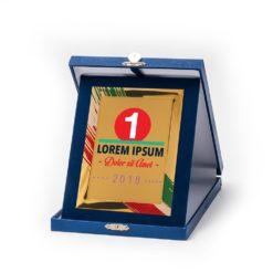 Műbőr dobozos plakett - DP04-G85X