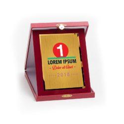 Műbőr dobozos plakett - DP27-G81X