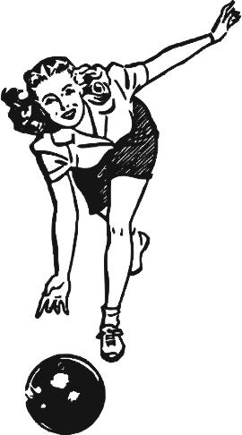 Bowling gravírbetét-női-BG142