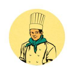 Szakács érembetét