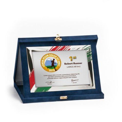 Műbőr dobozos plakett-dp82-g86x