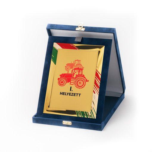 Műbőr dobozos plakett-dp83_g85x
